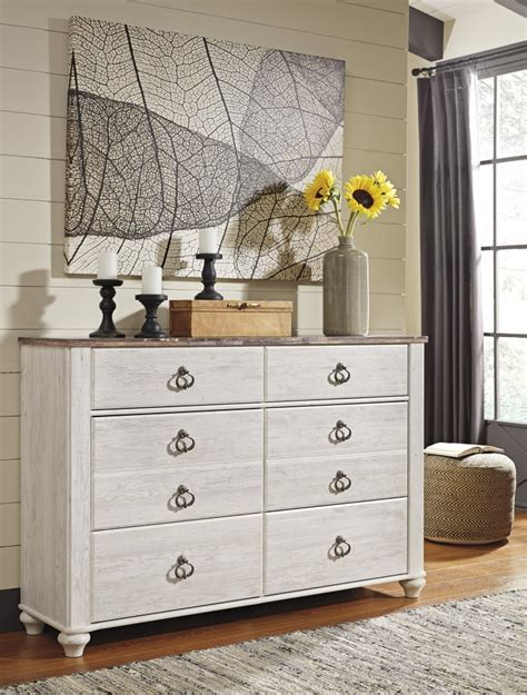 white wash dresser willowton whitewash dresser b267 31 bedroom