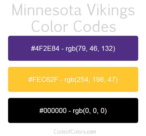 minnesota colors minnesota vikings colors hex and rgb color codes