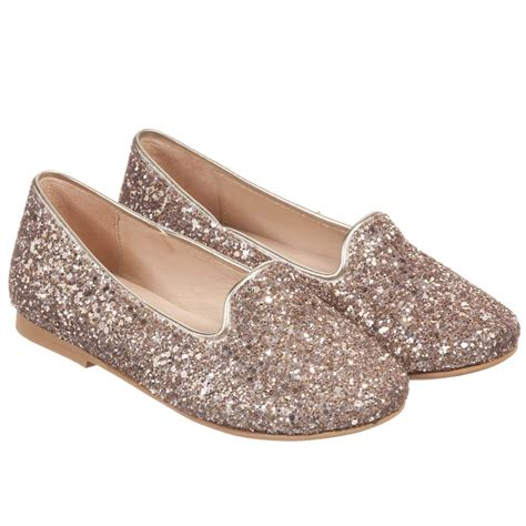 gold glitter shoes for manuela de juan gold glitter leather slip on shoes