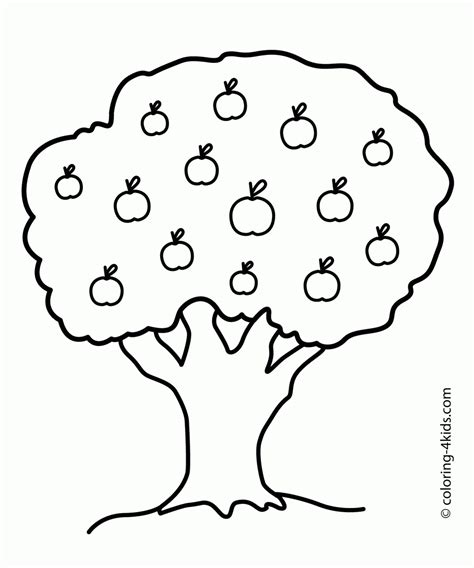 Clip Tree Outline by Apple Tree Outline Clip 25