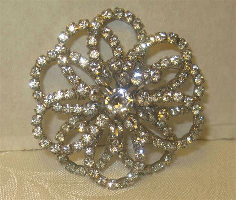 brooch ebay large rhinestone flower sunburst silvertone pin brooch true vintage jewelry ebay