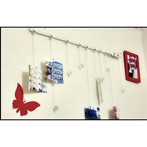 photo hanging clips hanging photo organizer rail with chains and 32 clips