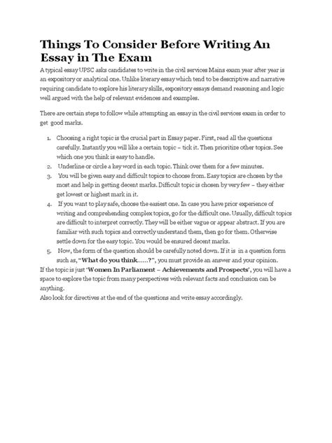 Before Writing An Essay by Things To Consider Before Writing An Essay Essays Brainstorming