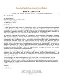 sle cover letter for psychology internship cover