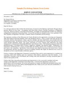 Cover Letter For Counseling Internship by Sle Psychology Intern Cover Letter Free