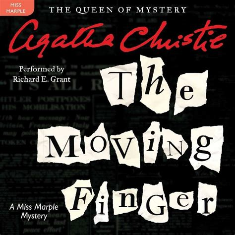 libro the moving finger miss the moving finger library edition miss marple audio cd strand mag