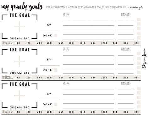 goal setting worksheets skip lou