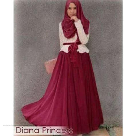 Baju Murah Set baju gamis murah diana set merah grosir baju muslim