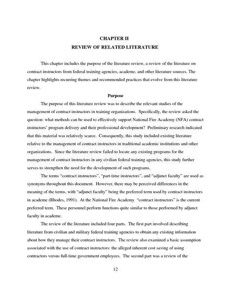 literature review of dissertation review of related literature in thesis literature review