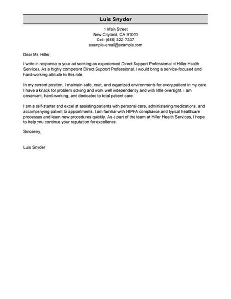 direct support professional cover letter cover letter design direct support professional cover