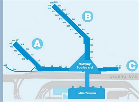 chicago midway airport map airport terminal map midway airport terminal jpg