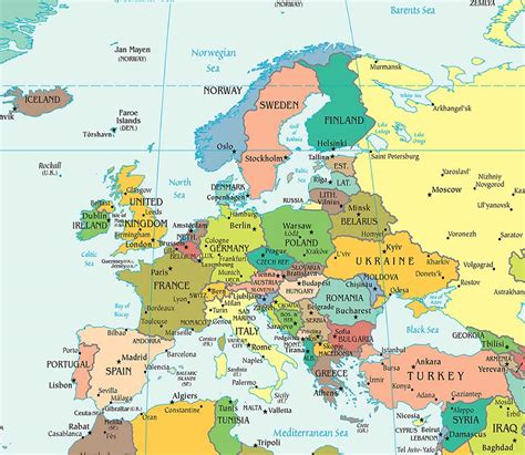map or europe europe political map political map of europe worldatlas