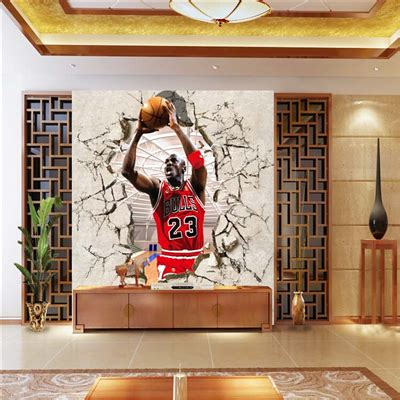 basketball wall murals corridor of 3d nba basketball background wallpaper bedroom wall stickers from