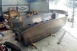 homemade aluminum fishing boat the home made aluminium boat powered by a diesel truck
