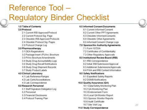Clinical Trial Agreement Checklist Ichwobbledich Com Regulatory Binder Template