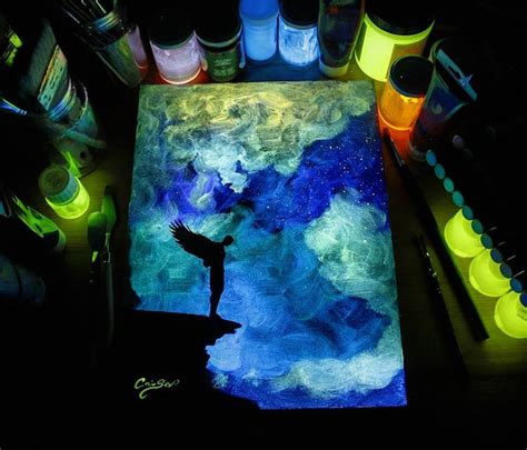 glow in the paintings glow in the paint reveals surprises in paintings when