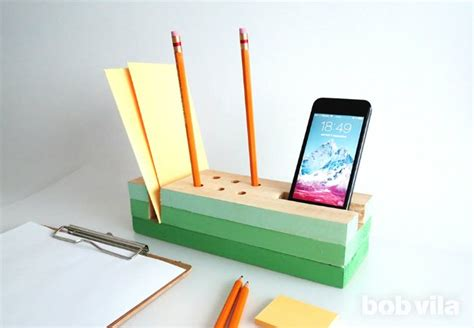 How To Make A Desk Out Of Paper - diy desk organizer diy lite bob vila