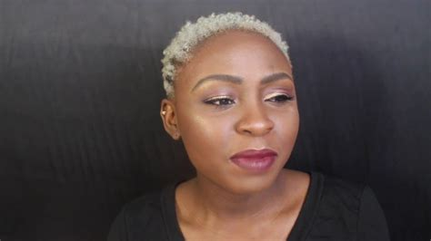 shaved head to hide graying hair makeover i shaved my head gray hair on dark skin youtube