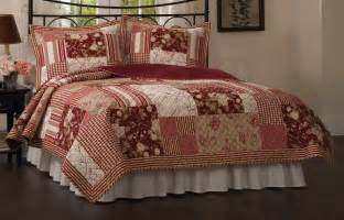 red quilted bedspread in queen or king quilt