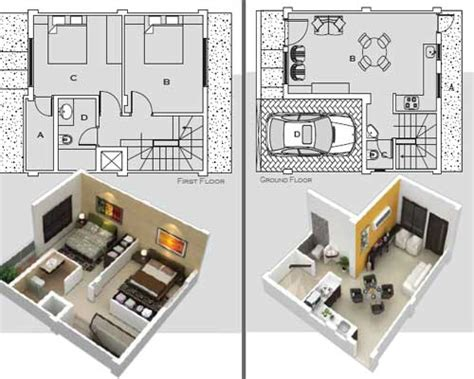 Row Houses Floor Plans by Floor Plan Villa Green