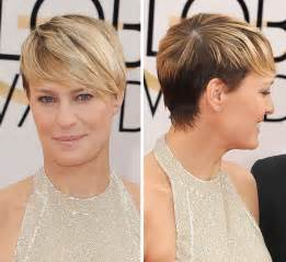 progression of robin wrights hair in house of cards pics robin wright s golden globe awards look stunning