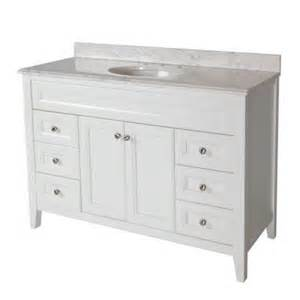 White Vanity Top Home Depot St Paul Brisbane 48 1 2 In Vanity In White With