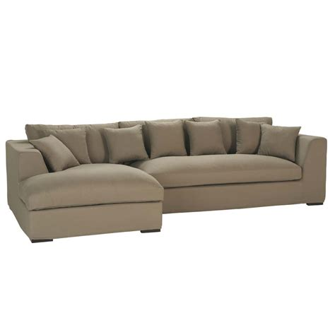 long sectional 5 seat corner sofa in taupe long island long island