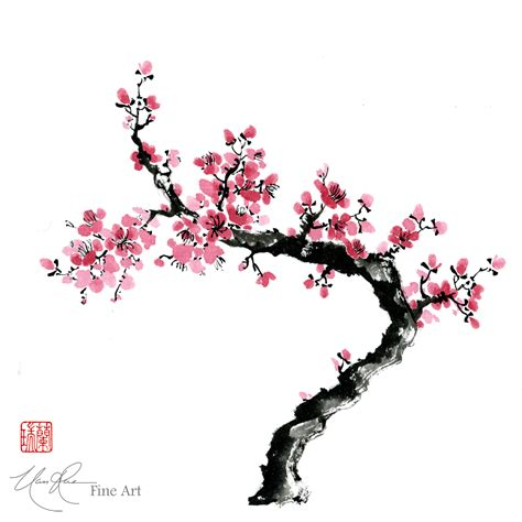 plum blossom tattoo plum blossoms original brush painting by nan