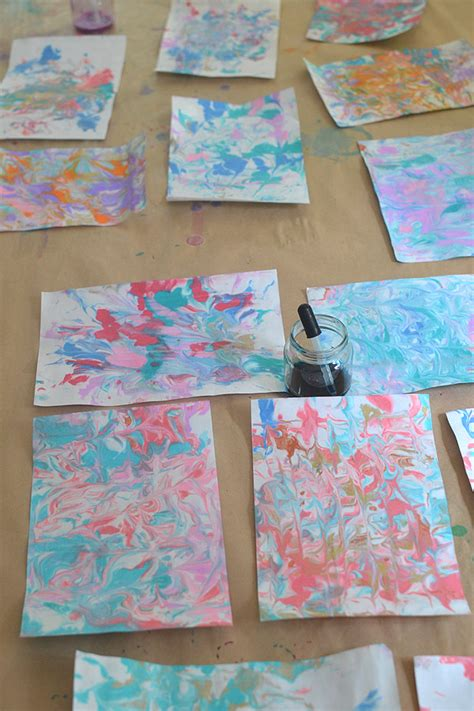 Make Marbled Paper - diy marbled paper artbar