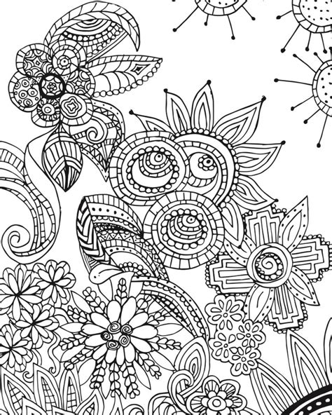 zendoodle coloring pages for adults free coloring page for adults flower zen doodle designs