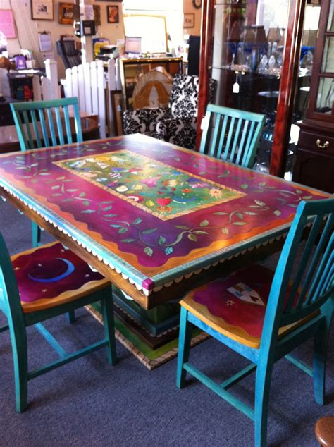 hand painted dining table with rhododendrens konifrazer com kitchen table adorable hand painted dining tables painted