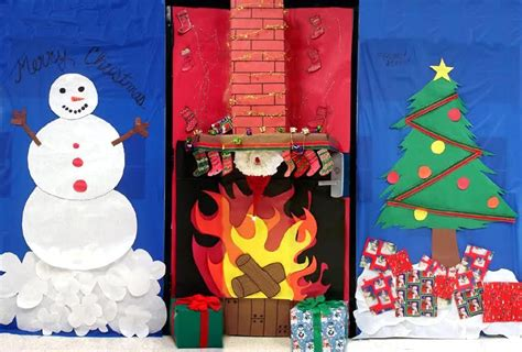 how to decorate doors and chimeny for christmas craftionary