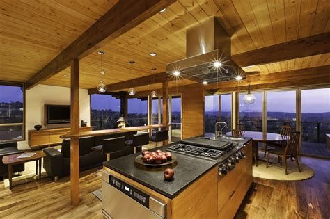 Large Floor Plans by Hillside Home Opened Up With A Post And Beam Makeover