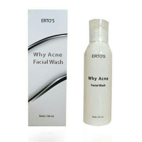 Sabun Muka Ertos ertos why acne wash original bpom pusat stokis agen stokis surabaya jakarta