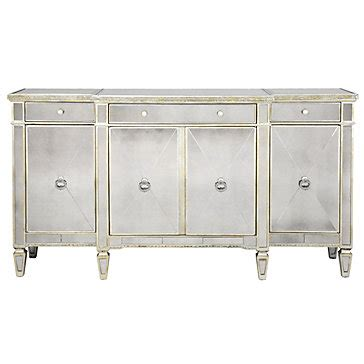 mirrored buffet table mirrored buffet glamorous borghese buffet z gallerie