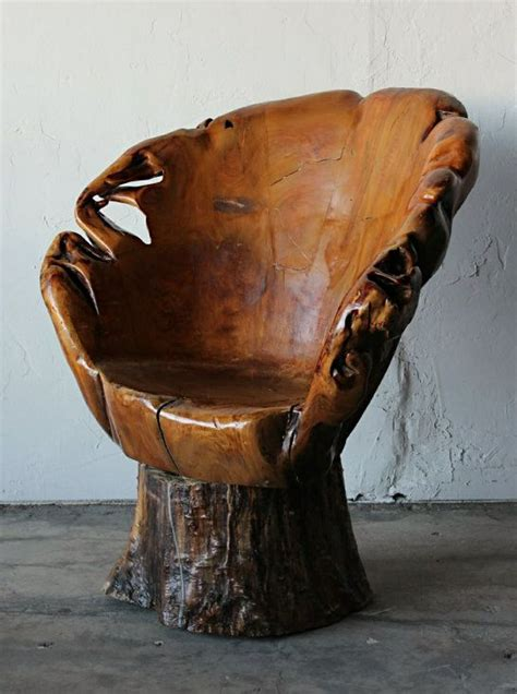 Awesome tree stump chair i heart chairs pinterest