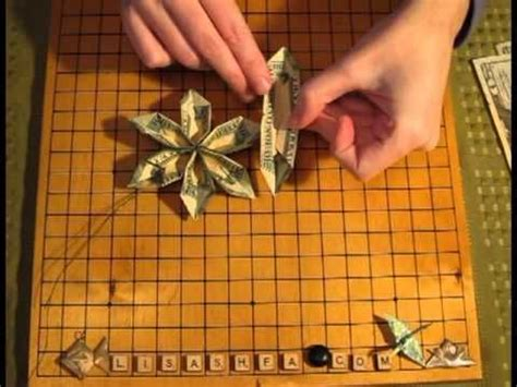 Money Origami Tutorial - flower origami folding with money wonderful