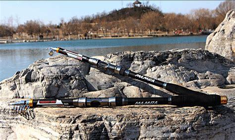 Joran Pancing Laut mamba joran pancing carbon fiber sea fishing rod 5 segments 2 4m black jakartanotebook