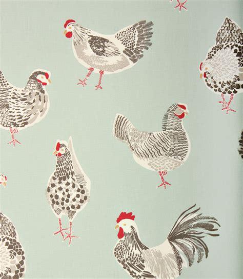 chicken pattern roller blind rooster clarke fabric duck egg just fabrics