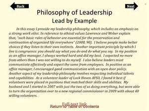Leadership Philosophy Template by Portfolio Of Cheryl Orndorf