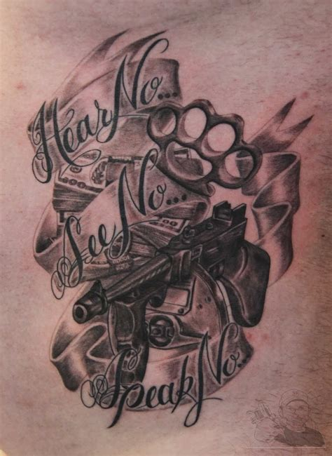 gangster style tattoo designs gangsta tattoos