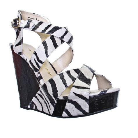 laundry zebra platform wedge shoes size 3 8 ebay