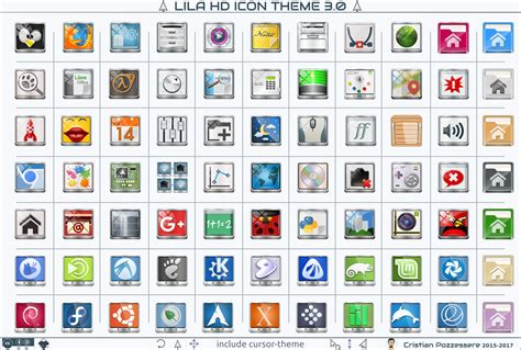 gnome builder themes lila hd icon theme www gnome look org