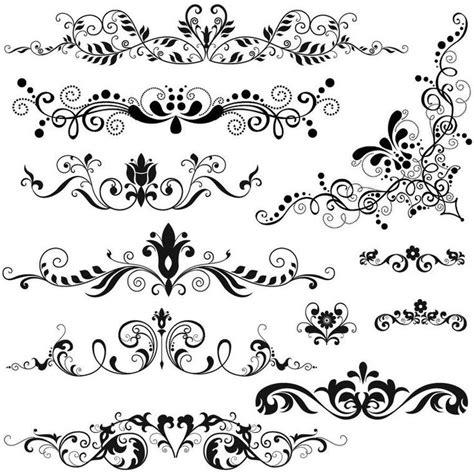 baroque pattern brush brush motif baroque 2 images tatouages pinterest