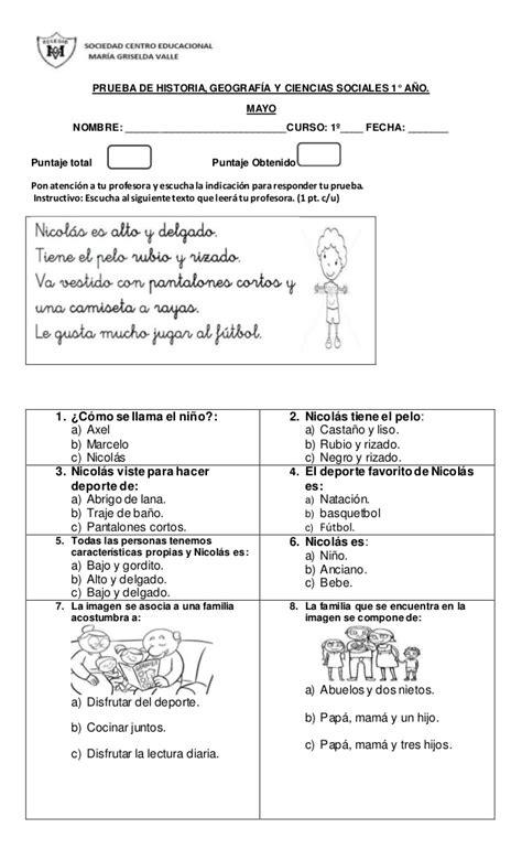 preguntas y respuestas historia de chile prueba de historia primero b 225 sico