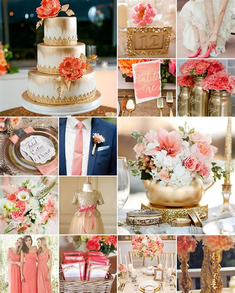Colour Schemes For Websites by Coral And Gold Wedding Colours