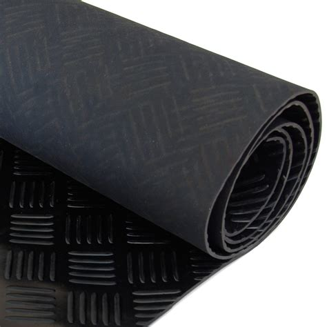 Rubber Mat Garage Floor Covering by Black Garage Cer Floor Checker Plate Rubber