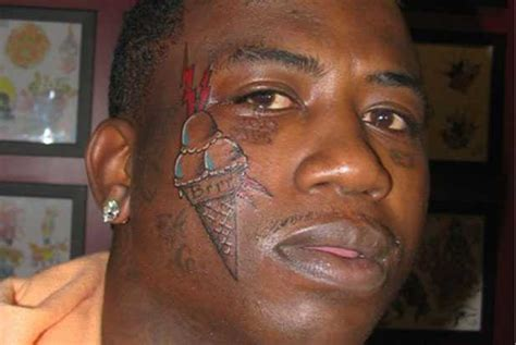 gucci face tattoo why did gucci mane an cone on his