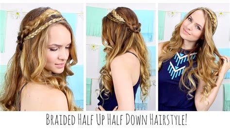 hairstyles to do for bohemian hairstyles for black hair boho braided half up half down hairstyle youtube