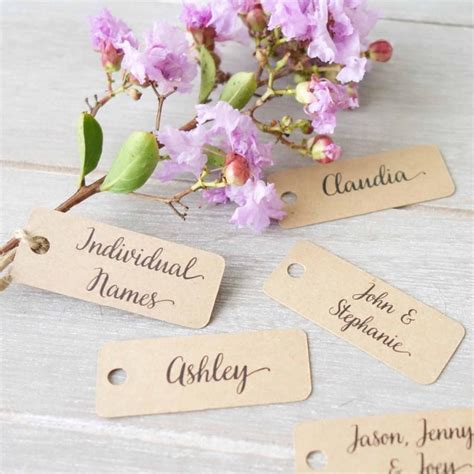 Wedding Name Tags by Wedding Personalised Name Tags Place Cards Name Labels